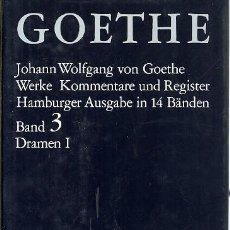 Libros de segunda mano: GOETHE WERKE KOMMENTARE UND REGISTER HAMBURGER AUSGABE IN 14 BANDEN BAND 3 DRAMEN I C H BECK. Lote 162415554