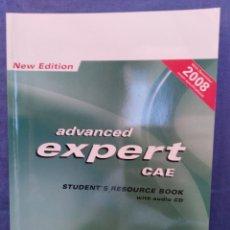 Libros de segunda mano: ADVANCED EXPERT CAE (CON CD) - LIBRO INGLÉS - 2008 - PEARSON ED. - 9781405880794. Lote 57333024