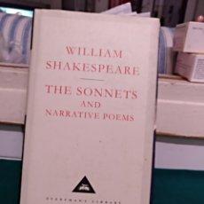 Libros de segunda mano: WILLIAM SHAKESPEARE, THE SONNETS. EVERYMAN LYBRARY 1992. Lote 167184941