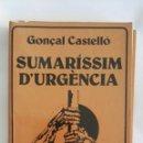 Libros de segunda mano: SUMARISSÍM D'URGÈNCIA COLECCIÓ MALVARROSA. Lote 168500117