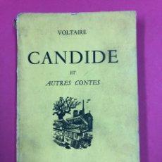 Libros de segunda mano: CANDIDE ET AUTRES CONTES. VOLTAIRE. AUX QUAIS DE PARIS. IDIOMA: FRANCÉS. Lote 169210178