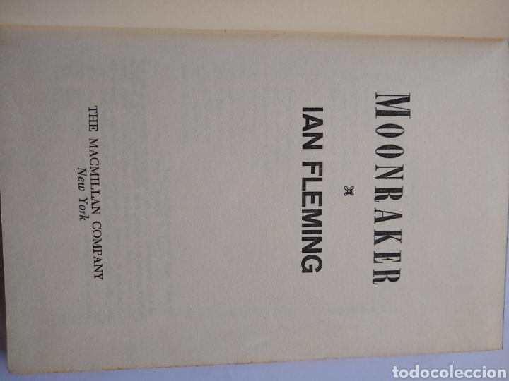 Libros de segunda mano: Moonraker, James Bond Ian Fleming 1955 Macmillan NY, 1ra edicion, 1ra impresion - Foto 2 - 170294370
