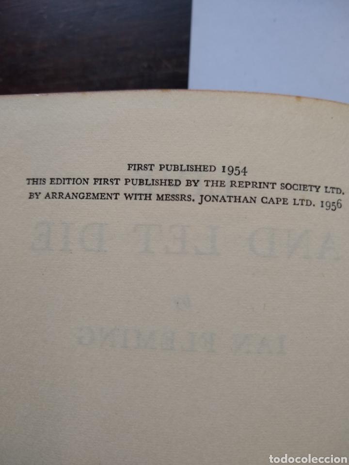 Libros de segunda mano: James Bond , Live and let die; Reprint Society, London, 1ra edicion año 1956 Ian Fleming, 1ra impres - Foto 2 - 170952469