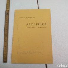 Libros de segunda mano: SÜDAFRIKA, VERSUCH EINER WÜRDIGUNG. PROF. DR. DR. H. C. WILHELM RÖPKE.. Lote 172585654