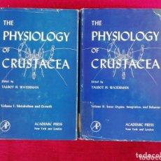 Libros de segunda mano: THE PHYSIOLOGY OF CRUSTACEA. TOMO I Y II. TALBOT H. WATERMAN.. Lote 172695823