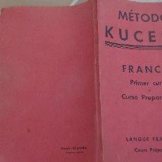 Libros de segunda mano: METODO KUCERA FRANCÉS PRIMER CURSO 1947 . Lote 172888754