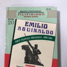 Livros em segunda mão: EMILIO AGUINALDO. FIRST FILIPINO PRESIDENT. PACIFICO A. CASTRO. FILIPINIANA. AÑO 1990.PAGINAS: 216.. Lote 181328215