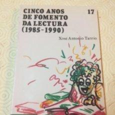 Livros em segunda mão: CINCO ANOS DE FOMENTO DA LECTURA(1985-1990) NÚMERO 17. ED.ANDEL. IDIOMA GALLEGO. Lote 173097325