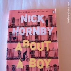 Livres d'occasion: ABOUT A BOY NICK HORNBY PENGUIN BOOKS 2000 ISBN 0140293450. Lote 173192889