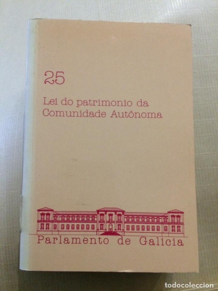 LEI DO PATRIMONIO DA COMUNIDADE AUTÓNOMA. PARLAMENTO DE GALICIA (Libros de Segunda Mano - Otros Idiomas)