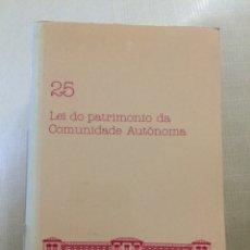 Libros de segunda mano: LEI DO PATRIMONIO DA COMUNIDADE AUTÓNOMA. PARLAMENTO DE GALICIA. Lote 173279317