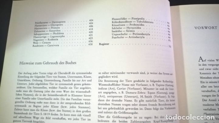 Libros de segunda mano: ENZYKLOPADIE DER TIERE. WILHELM EIGENER. GEORG WESTERMANN VERLAG. 2 TOMOS. EN ALEMAN. - Foto 9 - 174064850