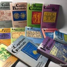 Libros de segunda mano: HISTORIA DE CATALUNYA ··· BIOGRAFIES CATALANES ···12 VOLS. EN CATALAN ··· VER FOTOGRAFIAS . Lote 175279110