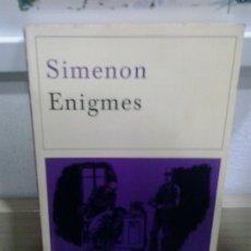 Libros de segunda mano: LMV - ENIGMES. SIMENON. TEXTO EN FRANCES. Lote 175997344