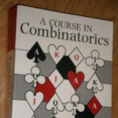 Libros de segunda mano: A COURSE IN COMBINATORICS POR VAN LINT Y WILSON DE CAMBRIDGE UNIVERSITY PRESS EN NEW YORK 1998. Lote 176768898