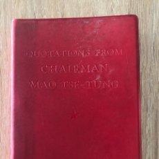 Libros de segunda mano: QUOTATIONS FROM CHAIRMAN MAO TSE-TUNG. FOREING LANGUAGES PRESS. PEKING, 1967. PAGS: 311. Lote 177037155