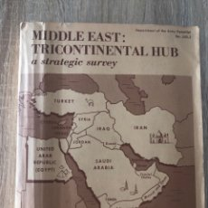 Libros de segunda mano: MIDDLE EAST. TRICONTINENTAL HUB. A STRATEGIC SURVEY. WASHINGTON DC, 1965. PAGS: 167. LEER. Lote 177037929