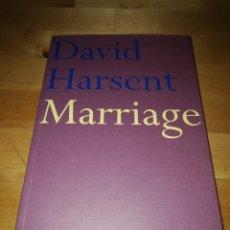 Libros de segunda mano: DAVID HARSENT - MARRIAGE - FABER AND FABER 2002 - POESÍA INGLESA. Lote 181225515