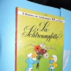 Livres d'occasion: 2 HISTOIRES DE SCHTROUMPFS: LA SCHROUMPFETTE; LA FAIM DES SCHTROUMPFS. ED. DUPUIS. 1967. Lote 181460523