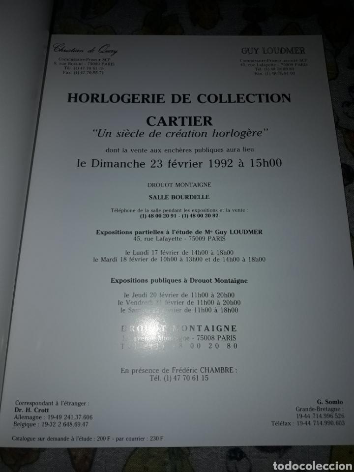 Libros de segunda mano: Cofre de 2 catálogos relojes. Guy Loudmer/Christian de Quay. Raro. Ver detalles - Foto 5 - 181506700