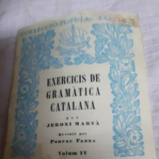 Libros de segunda mano: LIBRE DE EXERCICIS GRAMÁTICA CATALANA SINTAXI-SEGONA PART- 1.937. Lote 182454122