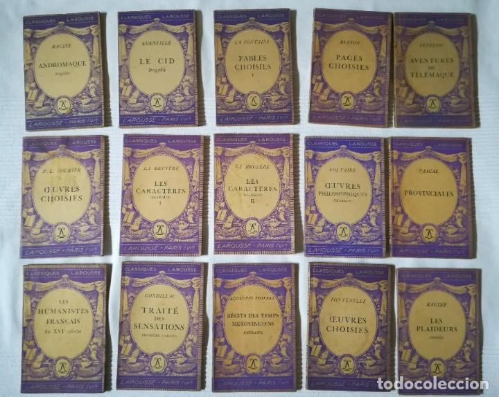 LOTE 15 LIBROS CLASSIQUES LAROUSSE (EN FRANCÉS) AÑOS 50 (Libros de Segunda Mano - Otros Idiomas)