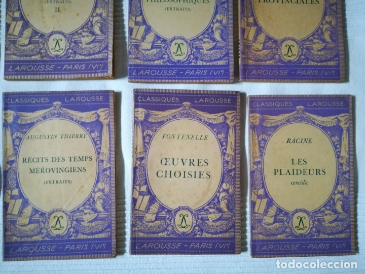 Libros de segunda mano: lote 15 libros Classiques Larousse (en francés) años 50 - Foto 6 - 182462265