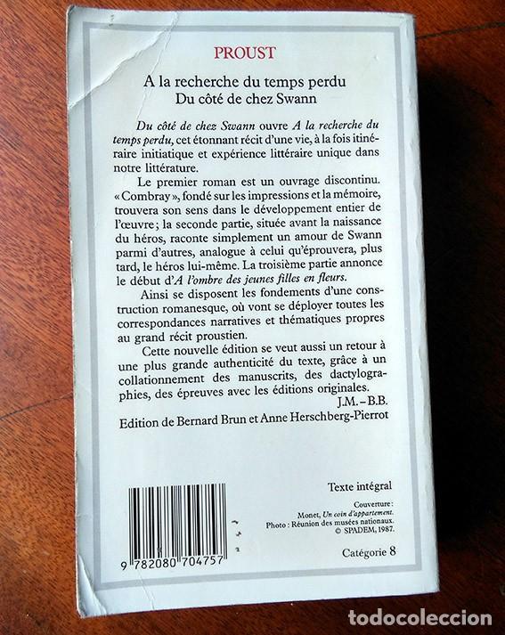 Libros de segunda mano: Marcel Proust. Du côté de chez Swann. GF-Flammarion, 1987 - Foto 2 - 184295226
