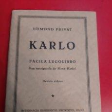 Libros de segunda mano: 1953 ESOERANTO EDMOND PRIVAT. Lote 185073703