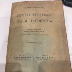 Libros de segunda mano: INTRODUCTIO SPECIALIS IN NOVUM TESTAMENTUM. Lote 186152056