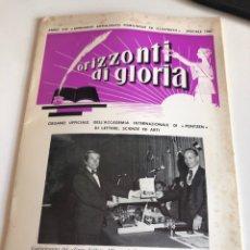Libros de segunda mano: ORIZZONTI DI GLORIA. Lote 186314731