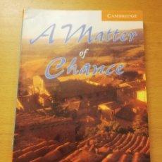 Livros em segunda mão: A MATTER OF CHANCE (DAVID A. HILL) CONTAINS AUDIO CD. Lote 189496097