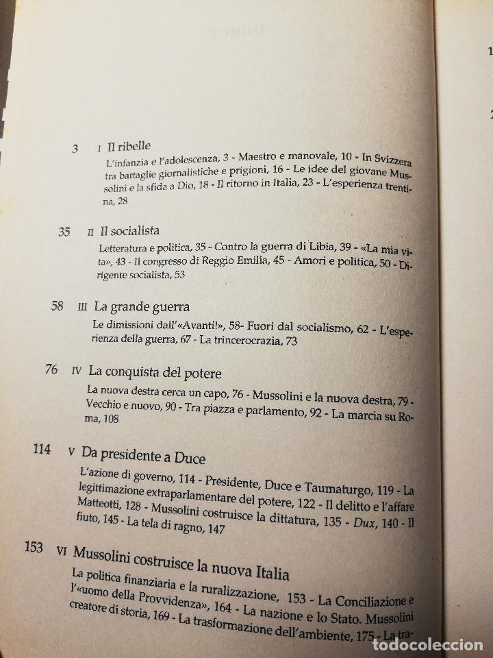 Libros de segunda mano: MUSSOLINI L'ITALIANO (AURELIO LEPRE) - Foto 3 - 190484255