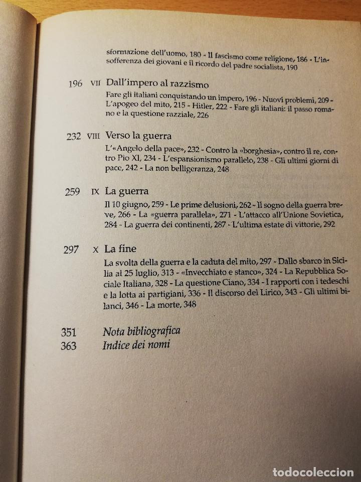 Libros de segunda mano: MUSSOLINI L'ITALIANO (AURELIO LEPRE) - Foto 4 - 190484255