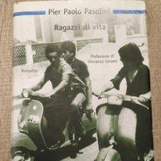 Libros de segunda mano: RAGAZZI DI VITA. ** PASOLINI, PIER-PAOLO - TEXTO EN ITALIANO.. Lote 190996587