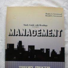 Libros de segunda mano: MANAGEMENT; THEORY, PROCESS AND PRACTICE. Lote 191327445
