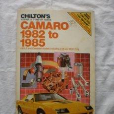 Libros de segunda mano: REPAIR AND TUNE-UP GUIDE CAMARO 1982-1985. Lote 191327662
