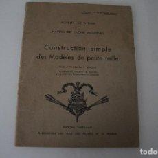Libros de segunda mano: CONSTRUCCIÓN DE MAQUETAS DE BARCO EN FRANCÉS. Lote 191452312