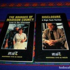 Libros de segunda mano: DISCLOSURE ACOSO Y THE BRIDGES OF MADISON COUNTY LOS PUENTES DE MADISON. SPEAK UP 1985. EN INGLÉS.. Lote 192872497