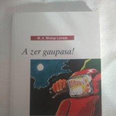 Libros de segunda mano: A ZER GAUPASA! LIBRO JUVENIL EN EUSKARA. Lote 194263776