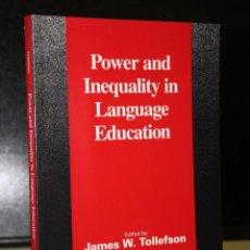 Libros de segunda mano: POWER AND INEQUALITY IN LANGUAGE EDUCATION.. Lote 194569838
