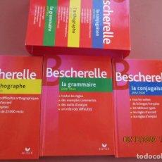 Libros de segunda mano: BESCHERELLE FRANÇAIS - COFFRET 3 VOLUMES, LA CONJUGAISON , L´ORTHOGRAPHE, LA GRAMMAIRE POUR TOUS . Lote 194638851