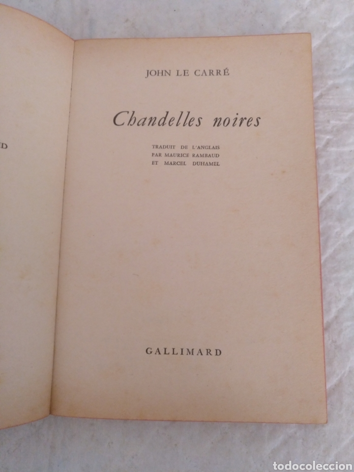 Libros de segunda mano: Chandelles noires. John Le Carré. Le livre de Poche policier. Editions Gallimard, 1966. Libro - Foto 3 - 194876622