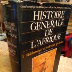Libros de segunda mano: HISTOIRE GENERALE DE L'AFRIQUE. JEUNE AFRIQUE. STOCK. UNESCO. Lote 194929741