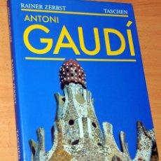 Libros de segunda mano: LIBRO EN INGLÉS: ANTONI GAUDÍ - DE RAINER ZERBST - EDITORIAL TASCHEN - AÑO 1988. Lote 195109990