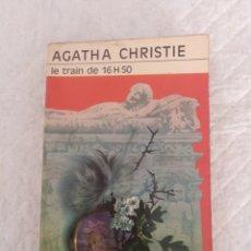 Libros de segunda mano: LE TRAIN DE 16 HEURES 50 (4-50 FROM PADDINGTON). AGATHA CHRISTIE. COLLECTION CLUB DES MASQUES. LIBRO. Lote 195122827
