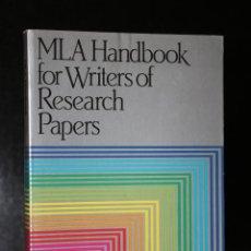 Libros de segunda mano: MLA HANDBOOK FOR WRITERS OF RESEARCH PAPERS.. Lote 195124611