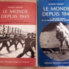 Libros de segunda mano: LE MONDE DEPUIS 1.945. MAURICE CROUZET 1.973. PRESSES UNIVERSITAIRES DE FRANCE.. Lote 195144685