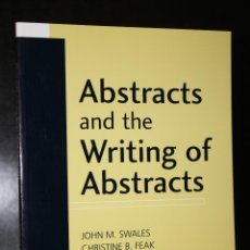 Libros de segunda mano: ABSTRACTS AND THE WRITING OF ABSTRACTS.. Lote 195167907