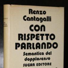 Libros de segunda mano: CON RISPETTO PARLANDO. SEMANTICA DEL DOPPIOSENSO.. Lote 195187826